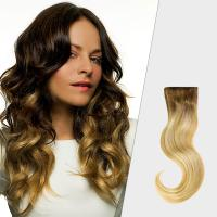 Quality Professional Black To Blonde Ombre Hair Extensions , No Tang No Mixture Ombre Weft Hair Extensions for sale
