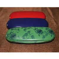 Quality Fashion Abs Plastic Kids Eyeglass Case Lightweight Black / Red With Velvet Lining for sale