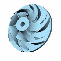 Quality Curved blade disc turbine impeller for sale