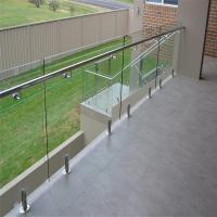 Quality 304 Stainless steel spigots Mount Tempered glass Railing system for sale