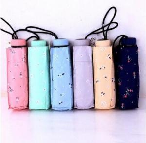 Quality Mini Flower Lightweight Sun Umbrella/ Travel UmbrellaRubber Coating Handle for sale