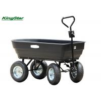 Quality Black Heavy Duty Garden Utility Cart Wagon Carrier Rust Free For Transport Wood for sale