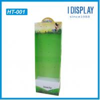 China Cardboard hanging display board  point of purchase display for supermarket racks on sale