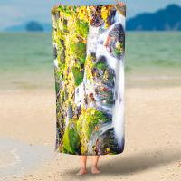 Buy cheap 250 Gsm Digital Print Terry Personalized Beach Towels With No Color Limit from wholesalers