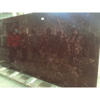 Quality Brown Artificial Quartz Stone Slab Polished / Honed Finished Surface for sale