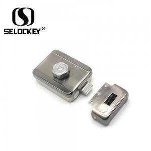 China Electronic Access Control Outside Mechanical 12V Rim Door Locks on sale