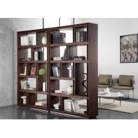 Quality Black Walnut Wooden Book Case 5 Shelf Living Room Tall Solid Wood Bookcases for sale