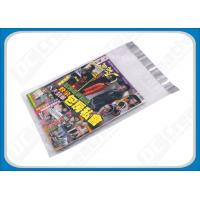 Quality Custom Printed Poly Mailers Self-Seal Transparent Poly Envelopes For Brochures , Catalogue for sale