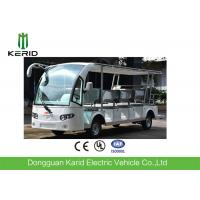 Quality White 14 Seats Tourist Resort Car Battery Used Electric Sightseeing Car With Sunshade for sale