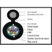 Buy cheap 12 Core Steel Tape armoured Figure 8 Fiber Optic Cable Long Diatance Data from wholesalers