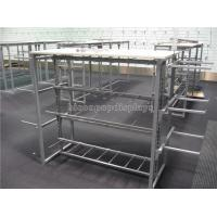 Quality Garment Retail Store Fixtures 4 - Way Metal Hanging Outerwear Clothing Display Rack for sale