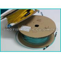 Quality LC / APC Multiple Pre Terminated Fiber Optic Cable Single Mode Breakout Structure for sale