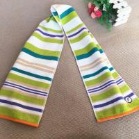 Quality Fast Drying Comfortable Sports Cooling Towel Classic Green Stripe 35 * 70 Cm for sale