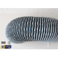 Quality PVC Coated Fiberglass Fabric Flexible Air Ducts 200MM 10M Grey 260℃ HAVC System for sale