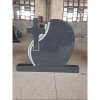 Quality China G654 Memorial Granite Stones , Granite Cemetery Headstones Christian Style for sale