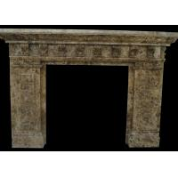 Quality Indoor Natural Stone Fireplaces Emperador Fire Surround 2800 Kg/M3 Hand Making for sale