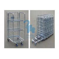 Quality Steel Security Cage Storage Locker , Inventory Mobile Security Cage With Nylon Wheels for sale