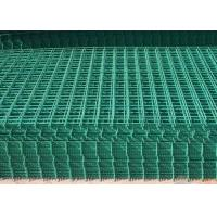 Quality PVC Coated Wire Mesh Fence Panels For Highway / Construction Green Color for sale