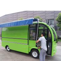 China Street Juice Bar Mobile Food Cart Trailer With Wheels Fiber Glass Material Body on sale