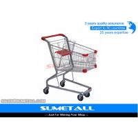 China Steel 4 Wheels Small Grocery Shopping Carts For Supermarket 3 Years Warranty on sale