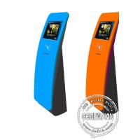 Interactive touch screen kiosk floor stand with card reader