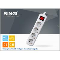 Quality Euro market Smart 4 gang adaptor intelligent power strips with CE certificate for sale