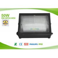 Quality 50w Led Outdoor Flood Lights Wall Pack AC90-295V , Philips Exterior Wall Pack Pure White SMD for sale