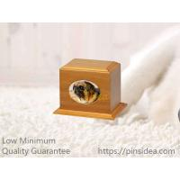 China Good Quality Matte Oak Color Birch Wood Affordable Pet Aftercare Photo Frame Monument Urn Box. Quality Guarantee on sale
