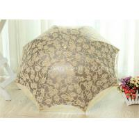 Quality 3 Fold Strong Windproof Folding Umbrella Sun Parasol Umbrella With Beautiful Lace for sale