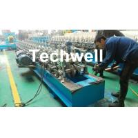 Quality Hat Channel Cold Roll Forming Machine With Hydraulic Cutting Type & PLC Frequency Control for sale