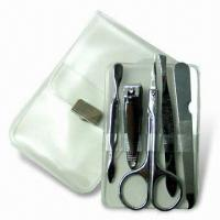 Quality Manicure Set, Made of Stainless Steel, Ideal for Travelling, OEM Orders are Welcome for sale