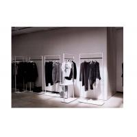 Quality Elegant Clothes Shop Fittings Iron Powder Coated , White Complete Shop Fittings For Retail Store for sale