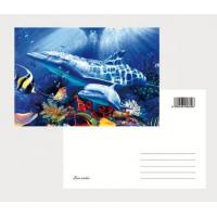 Quality 2021 Hot sale cheapest 3D Lenticular  printing business photography cards lenticular postcards/ 3D Christmas cards for sale