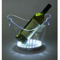 Quality Wholesale plastic flexible champagnes Led ice bucket wine buckets L27*W20*H22CM for sale