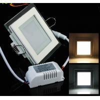 Quality Round and Square design of Glass recessed LED panel light flat SMD5730 Epistar 6W for sale