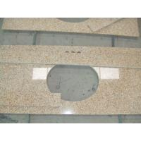 Quality Sunset Gold Granite Bathroom Vanity Tops , Custom Cut Size Granite Tile Countertop for sale