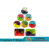 Buy Security Promotional Casino Poker Chips With Smooth And Delicate Texture at wholesale prices