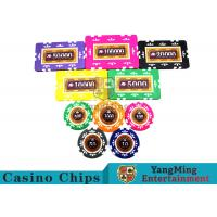 Buy Embedded Feel Casino Poker Chip Set With Environmental Protection Materials at wholesale prices