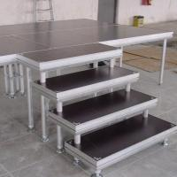 Quality stage stair have good stability made by aluminum tube and 18mm plywood for sale