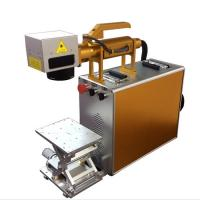 Quality 100X100MM Portable Laser Engraving Machine For Stainless Steel , Laser Marking Device for sale