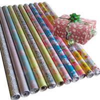Quality 30inch x 120inch  wrapping paper set 80gsm coated paper wholesale gift wrap paper for sale
