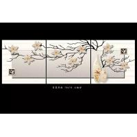 Quality Mold Resistant Tile Effect Wall Boards Bamboo Fiber Lily Blossom 70cm X 70cm for sale