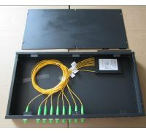 Quality 1x8 FC APC Rack mount splitter box, 19'', 1U height for sale