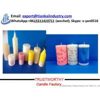 Buy cheap home decoration/wedding//party/hotel paraffin wax pillar candle at wholesale prices