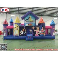 Buy cheap Purple Cartoon Theme Inflatable Jumping Castle 0.55mm PVC Fun Parks For Kids from wholesalers