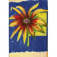 Quality flower painting interior wall decoration for sale