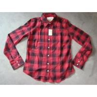 Quality 20K pcs Abercrombie & Fitch plaid pattern girl's shirt inventory ,women's Fall's slim-fit casual Tops for sale