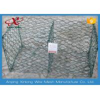 Quality 6 * 8cm Heav Duty Gabion Wire Mesh / Hexagonal Wire Cages For Rock Retaining Walls for sale