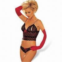 Quality Sexy Lingerie Bodysuit Includes Top, Pant and Gloves for sale