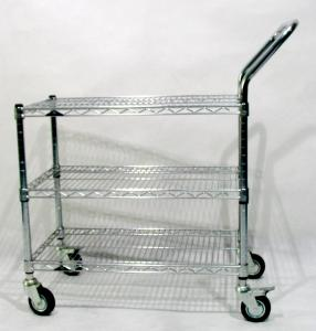 """Quality 200KG Load 3"""" Casters Anti Static ESD Chrome mesh trolley for sale"""